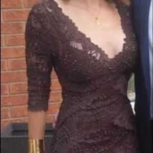 Brown sequinned dress